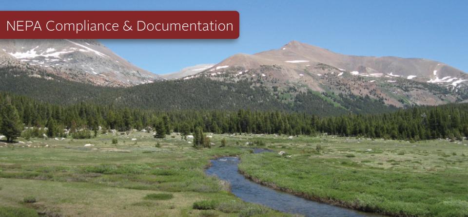 NEPA Compliance and Documentation